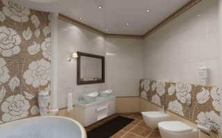 Натяжной потолок в ванной; советы экспертов, обзор видов, фото примеры