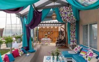 Уличные шторы для беседки и веранды: виды, материалы, дизайн, фото оформления террас