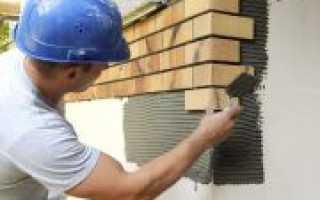 Облицовка газобетонных блоков клинкерной плиткой