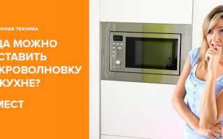 8 мест куда поставить микроволновку на кухне