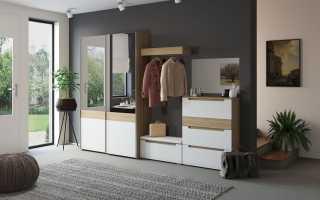 Дизайн в современном стиле в узкой прихожей