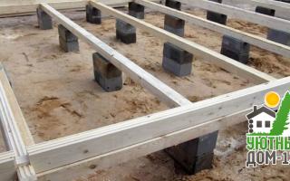 Опорно-столбчатый фундамент: особенности, преимущества и недостатки, этапы строительства