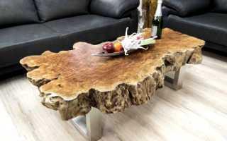 Как сделать стол из спила дерева своими руками