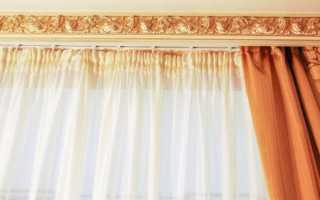 Багетные карнизы для штор: потолочные, деревянные, пластиковые