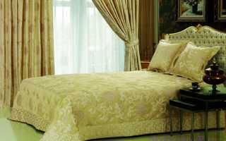 Как подобрать шторы и покрывало из одной ткани для спальни: советы специалистов