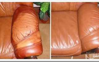 Как убрать царапины с кожаной мебели