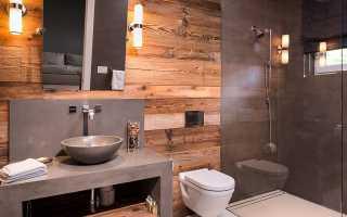 Плитка в ванную под дерево — надежный и эффектный материал для облицовки