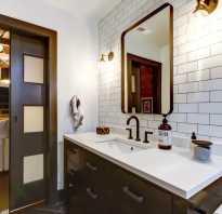Дизайн ванной комнаты в стиле лофт