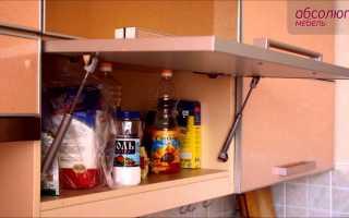 Разновидности доводчиков для кухонных шкафов