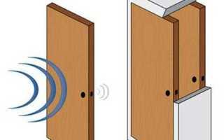 Шумоизоляция межкомнатной двери в квартире