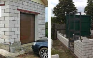 Как самому построить гараж из пенобетонных блоков