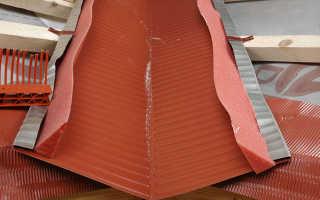 Устройство и монтаж ендовы на металлочерепицу – пошаговая инструкция