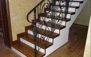 Отделка ступеней бетонной лестницы деревом
