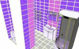 Планирование пространства в ванной комнате