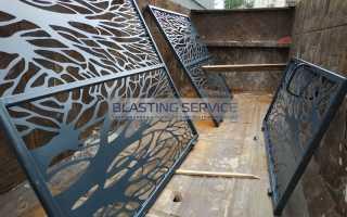 Обработка и покраска металлического забора