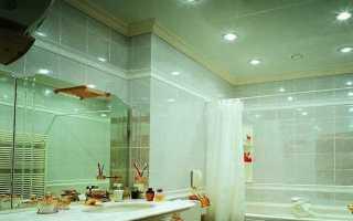 Фото потолка в ванной