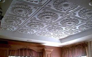 Отделка потолка пенопластовыми плитками