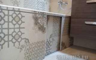 Экран под ванной из гипсокартона и плитки