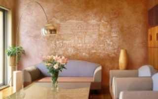 Венецианская штукатурка в интерьере квартиры