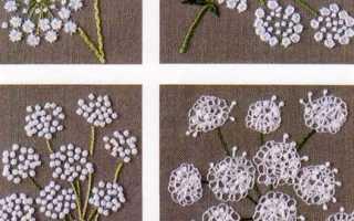 Объемная вышивка нитками с пошаговым описанием