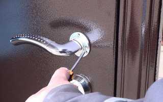 Демонтаж металлических дверей своими руками
