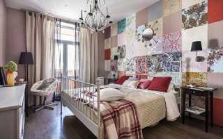 Комбинирование обоев в спальне ( 50 фото)