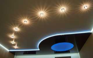 Как рассчитать необходимое количество светильников в натяжной потолок