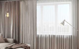 Сшить шторы из двух цветов ткани — яркая идея для интерьера