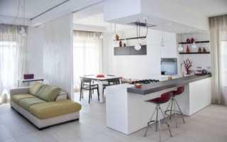 Дизайн кухни-гостиной 50 кв м в частном доме